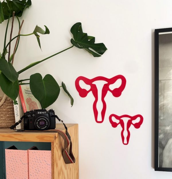 decoracion de pared, utero, silueta